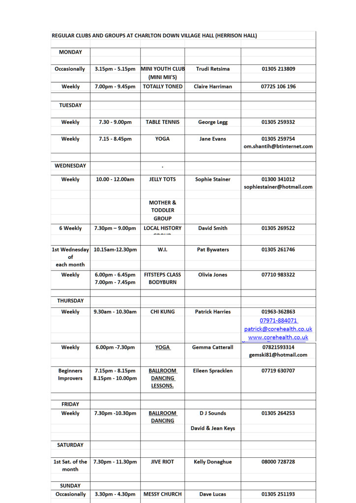 Regular events 724x1024 REGULAR EVENTS