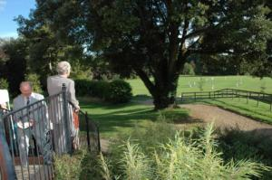 Outside at a Herrison Hall wedding